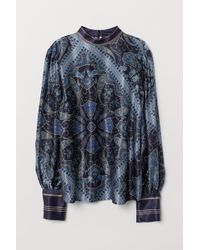 H&M - Paisley-patterned Blouse - Lyst