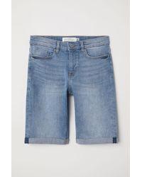 H&M Knielange Jeansshorts