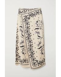 H&M Patterned Skirt - Natural