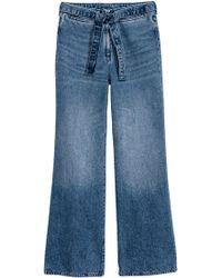 H&M Slim High Waist Jeans - Blau