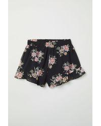 H&M - Frill-trimmed Chiffon Shorts - Lyst