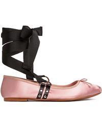 H&M Lace-up Ballet Pumps