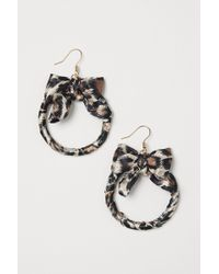 H&M - Earrings With A Bow - Lyst