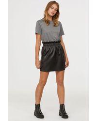 H&M - Paper Bag Skirt - Lyst