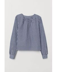 H&M Seersucker Blouse - Blue