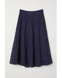 H&M - Bell-shaped Lace Skirt - Lyst