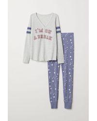 H&M - Pyjama Top And leggings - Lyst