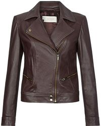 Hobbs - Yasmine Leather Jacket - Lyst