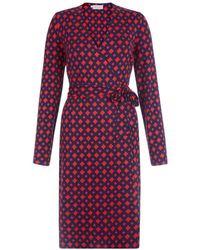 Hobbs - Delilah Printed Wrap Dress - Lyst