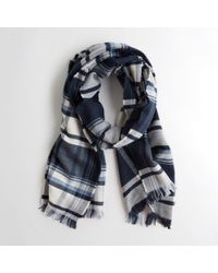 Hollister - Girls Plaid Woven Scarf From Hollister - Lyst