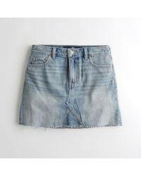 af4043a74 Hollister - Girls High-rise Denim Skirt From Hollister - Lyst