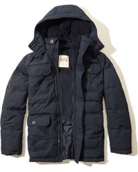 Hollister - Channel Quilted Parka - Lyst
