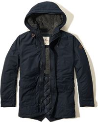 Hollister - Coated Cotton Sherpa Parka - Lyst
