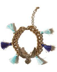 Hollister - Eagle Tassel Bracelet - Lyst