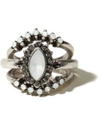 Hollister - Silver Ring Set - Lyst