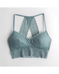 b862cee06ad178 Hollister - Girls Lace Longline Bralette With Removable Pads From Hollister  - Lyst