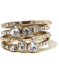 Hollister - Golden Ring Set - Lyst