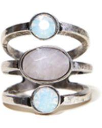 Hollister - Stone Statement Ring - Lyst