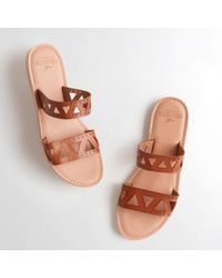 Hollister - Girls Faux Leather Slide Sandals From Hollister - Lyst