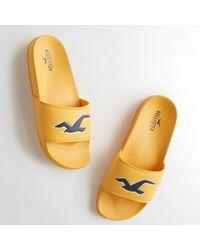 Hollister - Girls Icon Slide Sandals From Hollister - Lyst
