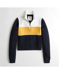 Hollister - Girls Half-zip Sweatshirt From Hollister - Lyst