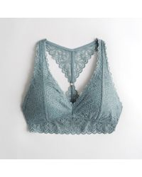 Hollister - Girls Lace Racerback Bralette With Removable Pads From Hollister - Lyst
