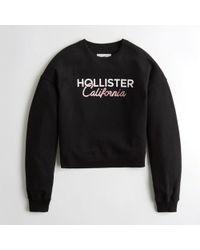Hollister - Girls Metallic Logo Crewneck Sweatshirt From Hollister - Lyst