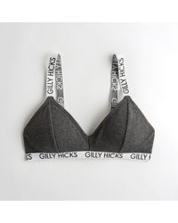 36f60a851eb0b Hollister - Girls Logo Ribbed Triangle Bralette With Removable Pads From  Hollister - Lyst