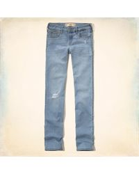 Hollister - Girls Classic Stretch Low-rise Skinny Jeans From Hollister - Lyst