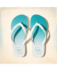 Hollister | Rubber Icon Flip Flop | Lyst