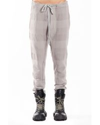 Nude:mm - Block Check Slim Pants In Grey - Lyst