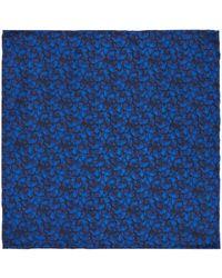 Kenneth Cole - Bushwick Dark Floral Pocket Square - Lyst