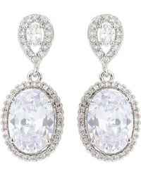 Mikey - Cubic Oblong Link Drp Earring - Lyst