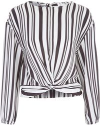 Jane Norman - Cropped Knot Front Blouse - Lyst