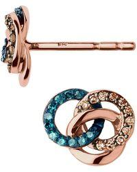 Links of London - Treasured Rose Gold & Diamond Earrings - Lyst
