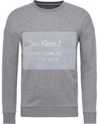 Calvin Klein   Hayto Flocked Sweatshirt   Lyst