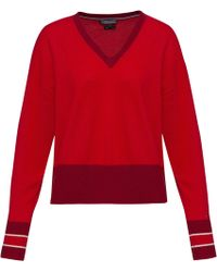 Tommy Hilfiger - Afina Tipping V-neck Sweater - Lyst