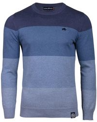 Raging Bull - Men's Big And Tall Panel Stripe Sweater - Lyst