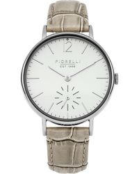 Fiorelli - Ladies Taupe Croc Leather Strap Watch - Lyst