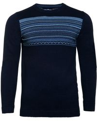 Raging Bull - Fairisle Panel Sweater - Lyst