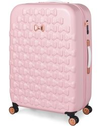 Ted Baker - Beau Pink 4 Wheel Large Suitcase - Lyst