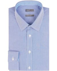 Jaeger - Men's Cotton Regular Mini Gingham Shirt - Lyst