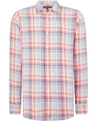 Michael Kors - Men's Classic Fit Linen Check Shirt - Lyst