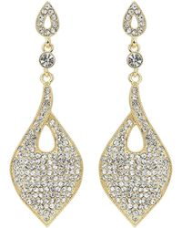 Mikey - Oblong Embded Crystal Earring - Lyst