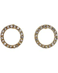 Pilgrim | Gold Plated With Crystals Earrings | Lyst