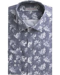 Alexandre Of England - Navy Floral Stripe Shirt - Lyst