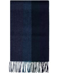 Alexandre Of England - Colville Green & Navy Cashmere Scarf - Lyst