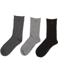 CALVIN KLEIN 205W39NYC - Roll Top 3 Pair Pack Ankle Socks - Lyst