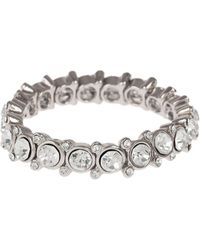 Mikey - Round Cased Cubic Linked Stones Bracelet - Lyst