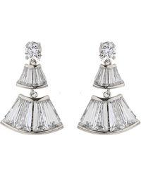 Mikey | Bell Design Cubic Baugette Drop Earring | Lyst